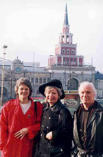 Meg, Pat and Ian In Russia